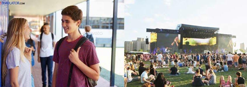 IELTS SIMULATOR ONLINE GENERAL TRAINING LISTENING EASY DEMO – Summer Music Festival S22GT1 FREE COMPUTER DELIVERED ONLINE IELTS SIMULATION