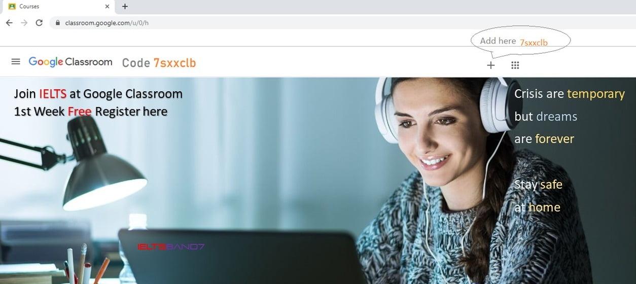 IELTS classroom.google.com